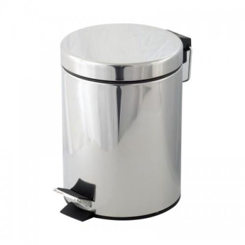 Coș de gunoi cu pedală,12 litri, inox