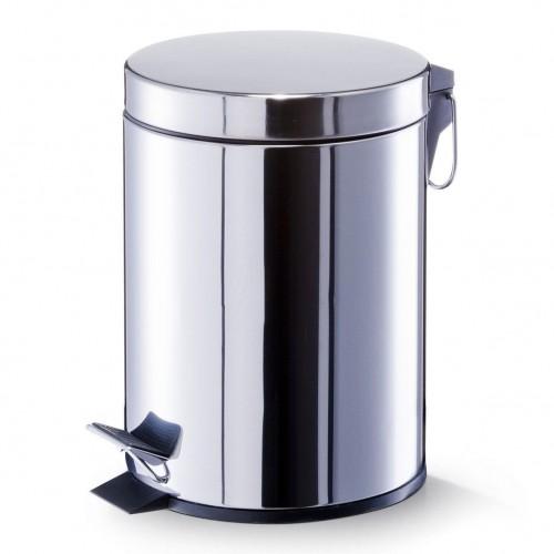 Coș de gunoi cu pedală,5 litri, inox